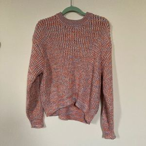 Chunky knit marled sweater and matching top